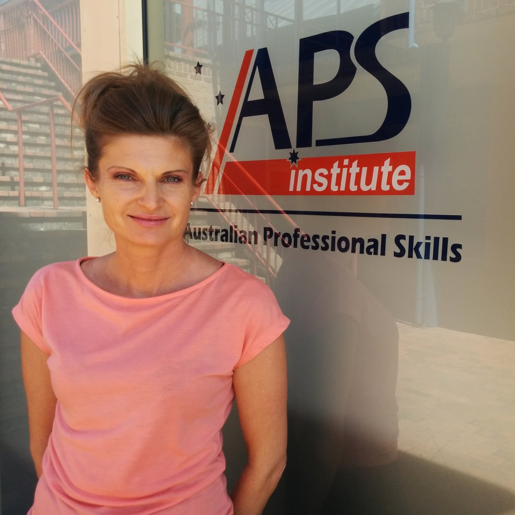 Anna, student of Cert III in Business, at APSI campus